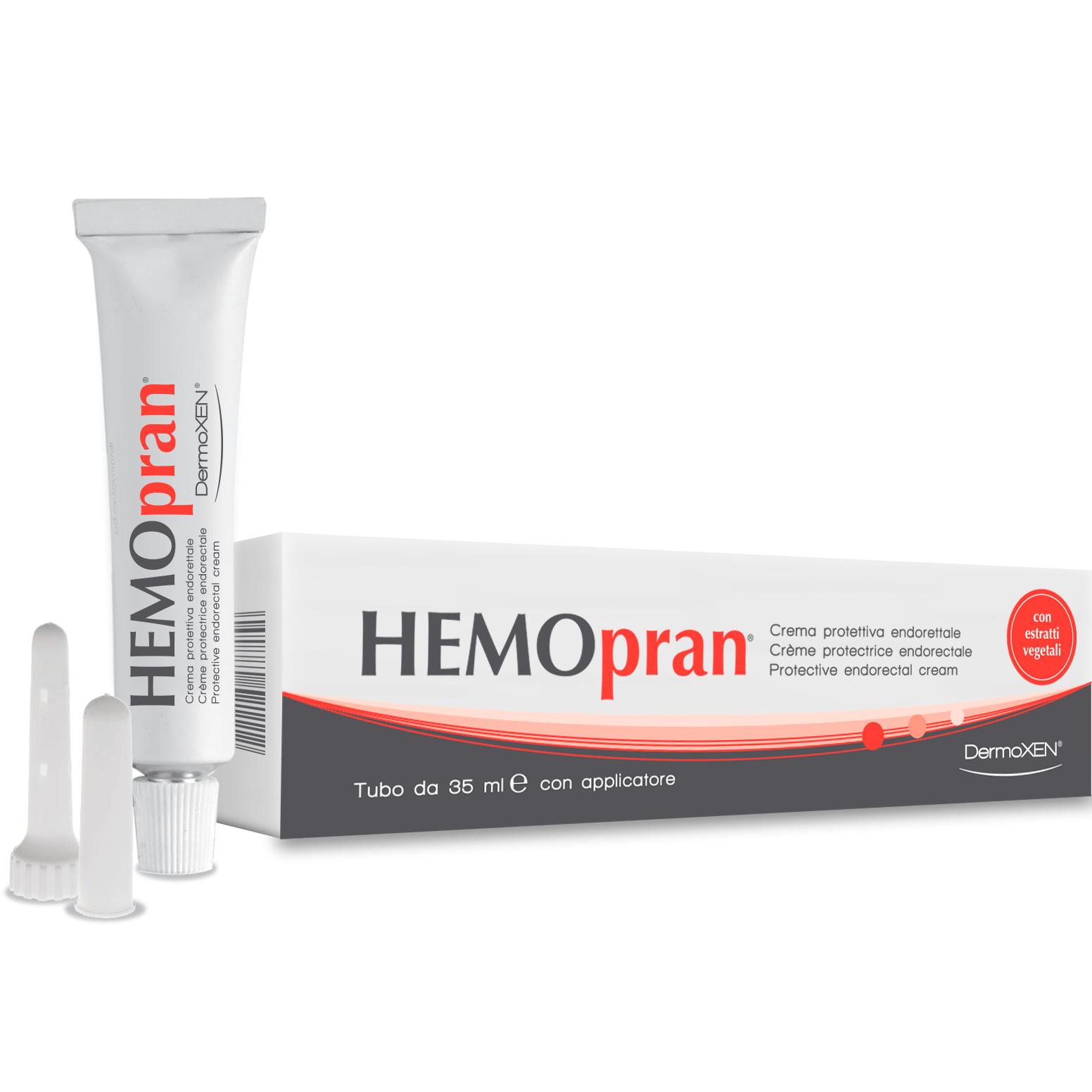 Dermoxen Hemopran Προστατευτική Κρέμα για την Ανακούφιση των Συμπτωμάτων των Αιμορροΐδων 35ml