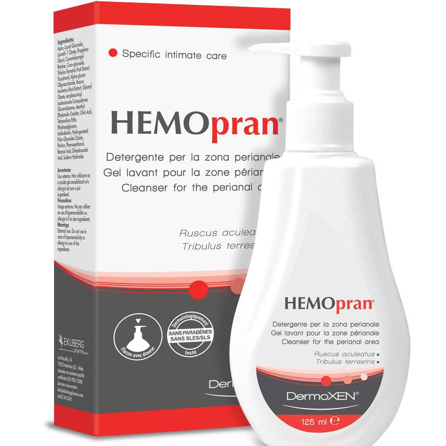 Dermoxen Hemopran Cleanser Καθαριστικό για Ευαίσθητη Περιοχή Γύρω από τον Πρωκτό 125ml