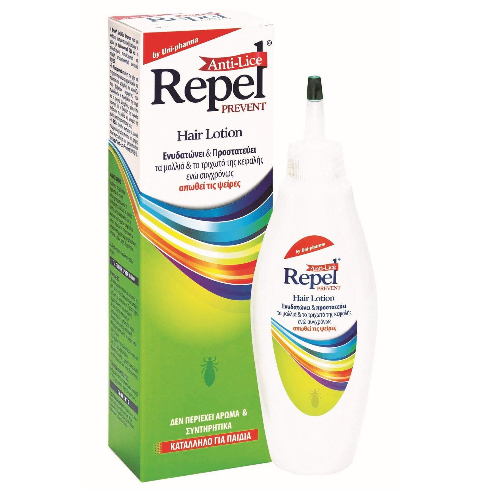 Uni-Pharma Repel Prevent Anti-Lice Hair Lotion Άοσμη Προστασία από τις Ψείρες 200ml