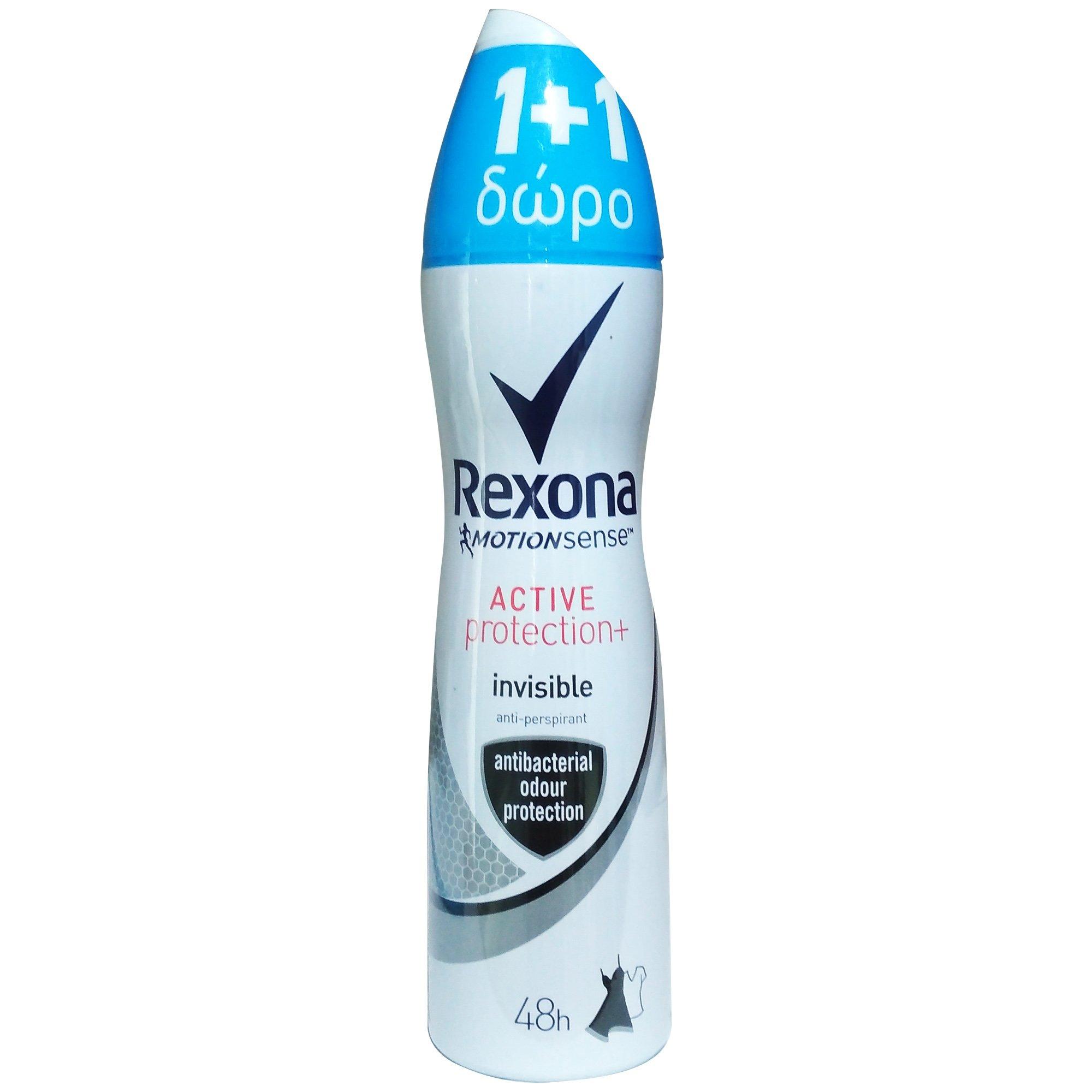 Rexona Women Πακέτο Προσφοράς Deodorant Spray Active Protection Fresh Αποσμητικό Σπρέι – Αντιιδρωτικό 48h 2x150ml 1+1 Δώρο