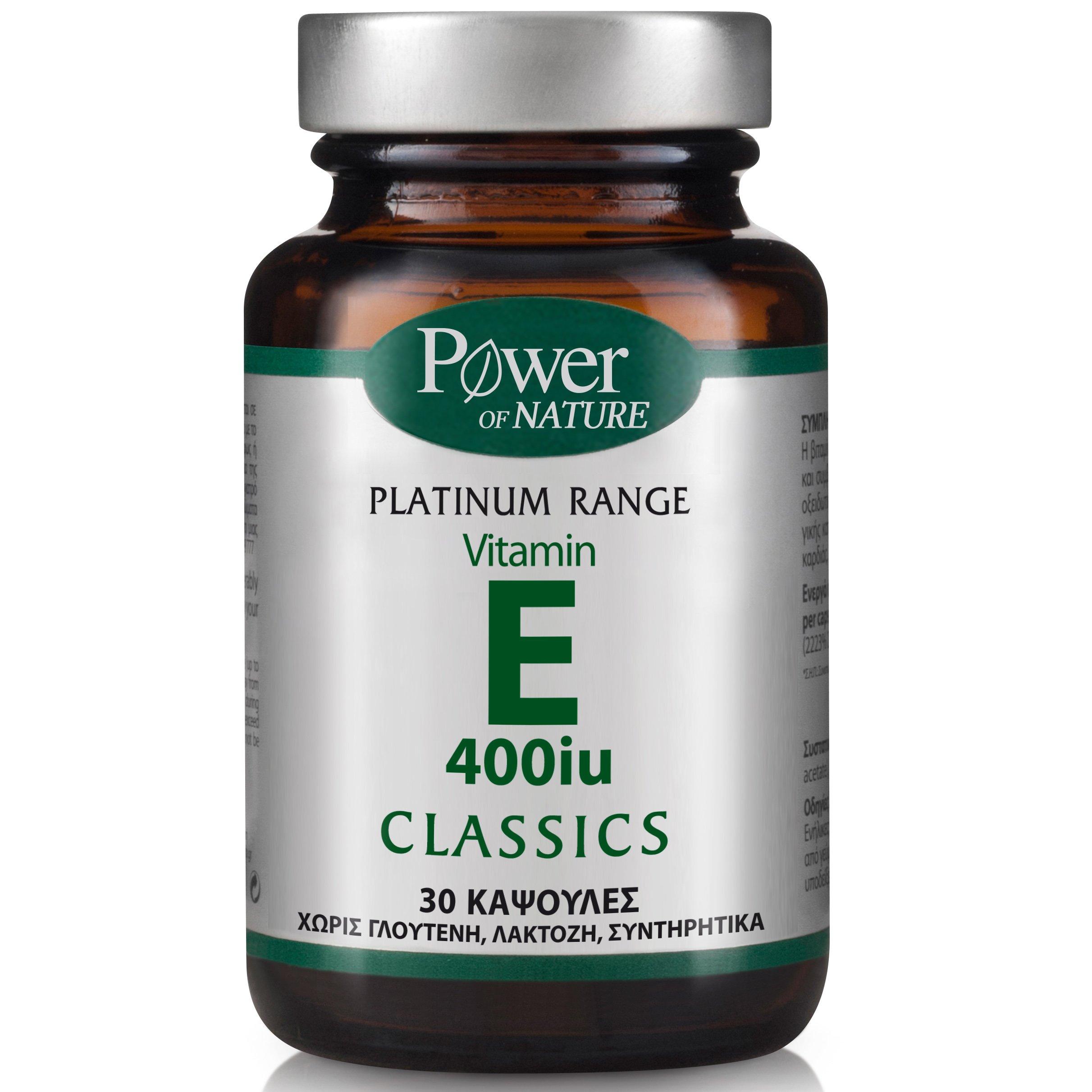 Power Health Platinum Vitamin E 400iu Συμπλήρωμα Διατροφής Βιταμίνης Ε 30caps