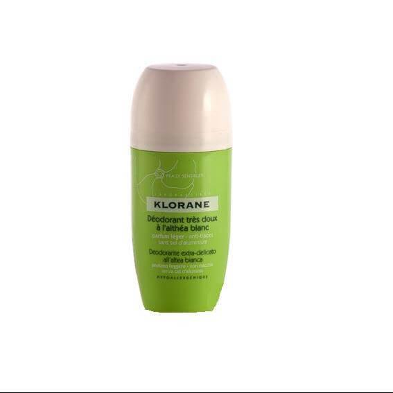 Klorane Deodorant Bille Πολύ απαλό αποσμητικό Roll on με Λευκή Άλθεα 40ml