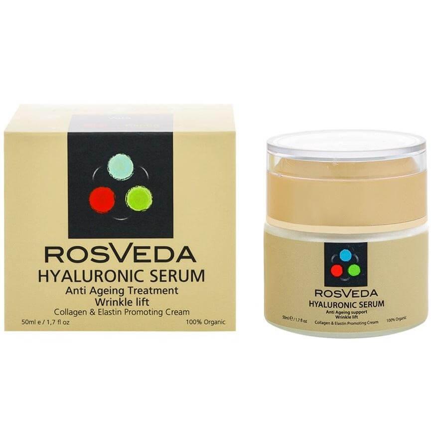 RosVeda Hyaluronic Serum 100% Φυτική Σύνθεση Ορός Αντιγήρανσης & Αναζοωγόνησης Για Το Πρόσωπο Με Υαλουρονικό 50ml