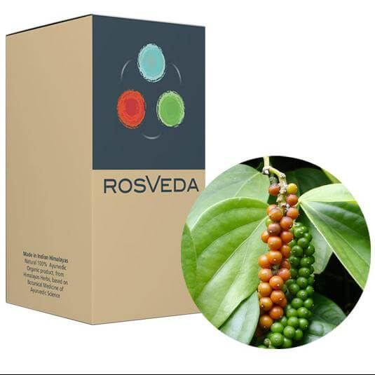 RosVeda Pure Essential Oil Black Pepper, 100% Φυτική Σύνθεση, Αιθέριο Έλαιο Μαύρο Πιπέρι 10ml