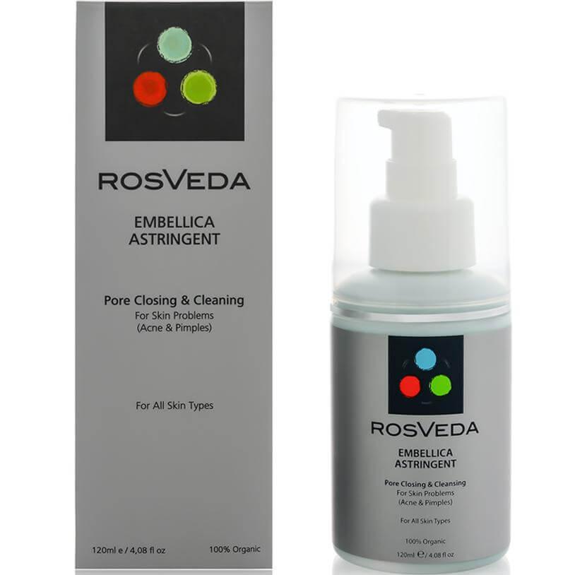 RosVeda Embellica Astringent 100% Φυτική Σύνθεση, Pore Closing & Cleaning Ισχυρό Στυπτικό & Αντισηπτικό Προσώπου 120ml
