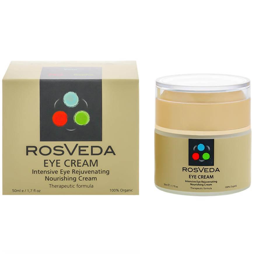 RosVeda Eye Cream 100% Φυτική Σύνθεση, Κρέμα Ματιών με Αντιοξειδωτική, Τονωτική & Προστατευτική Δράση 50ml