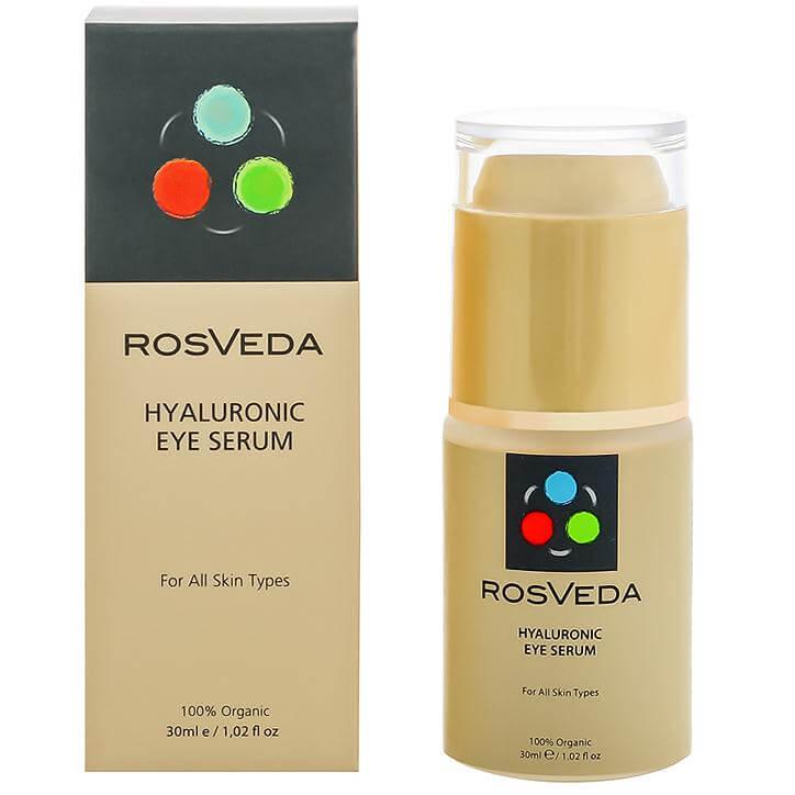 RosVeda Hyaluronic Eye Serum 100% Φυτική Σύνθεση,Ορός Αντιγήρανσης & Αναζοωγόνησης για τα Μάτια με Υαλουρονικό 30ml