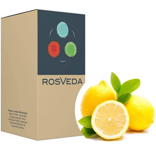RosVeda Pure Essential Oil Lemon 100% Φυτική Σύνθεση, Αιθέριο Έλαιο Λεμόνι 10ml