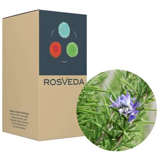 RosVeda Pure Essential Oil Rosemary, 100% Φυτική Σύνθεση, Αιθέριο Έλαιο Δενδρολίβανο 10ml