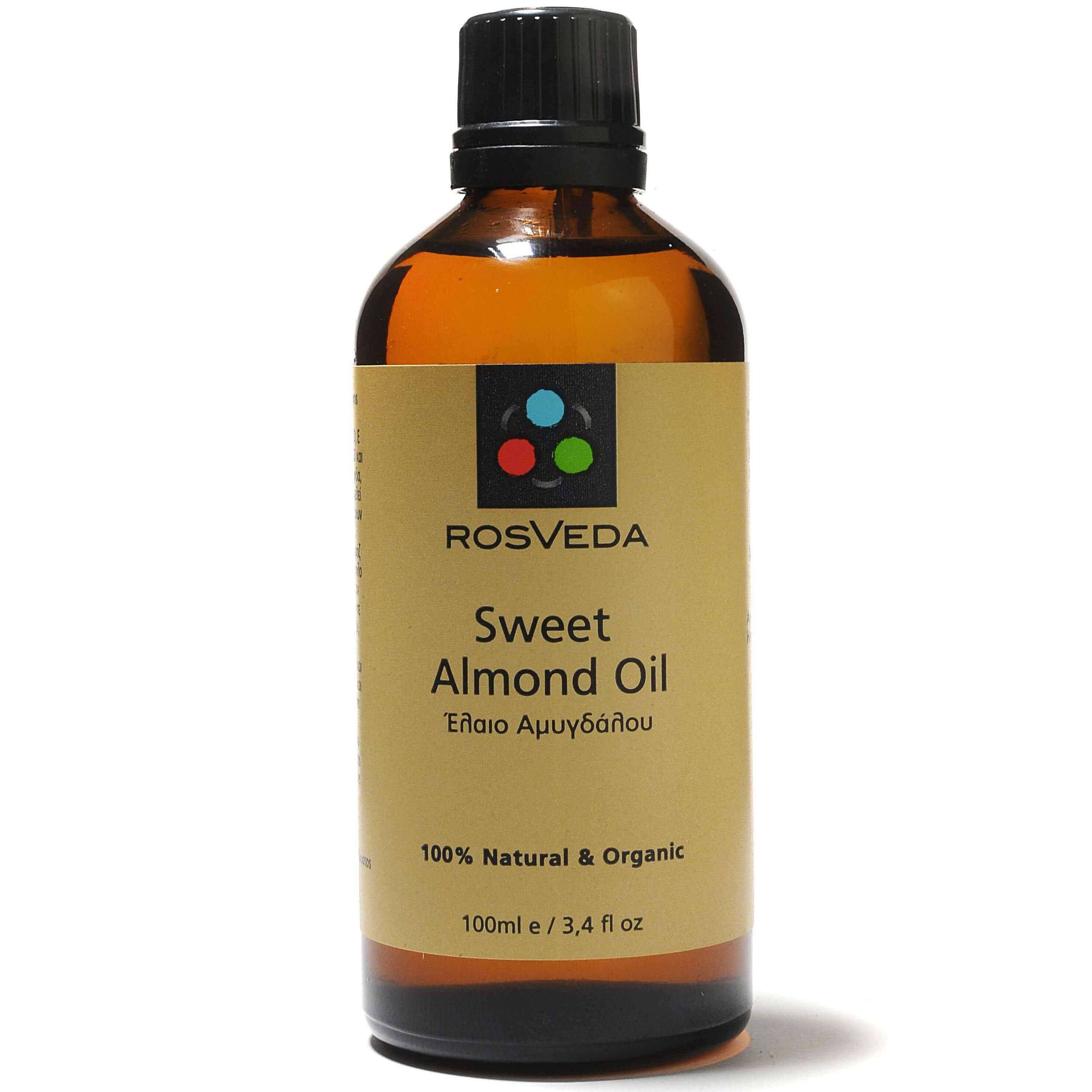 Rosveda Almond Oil 100% Φυτική Σύνθεση, Έλαιο Αμυγδάλου, Βάση Ανάμειξης Αιθέριων Ελαίων 100ml