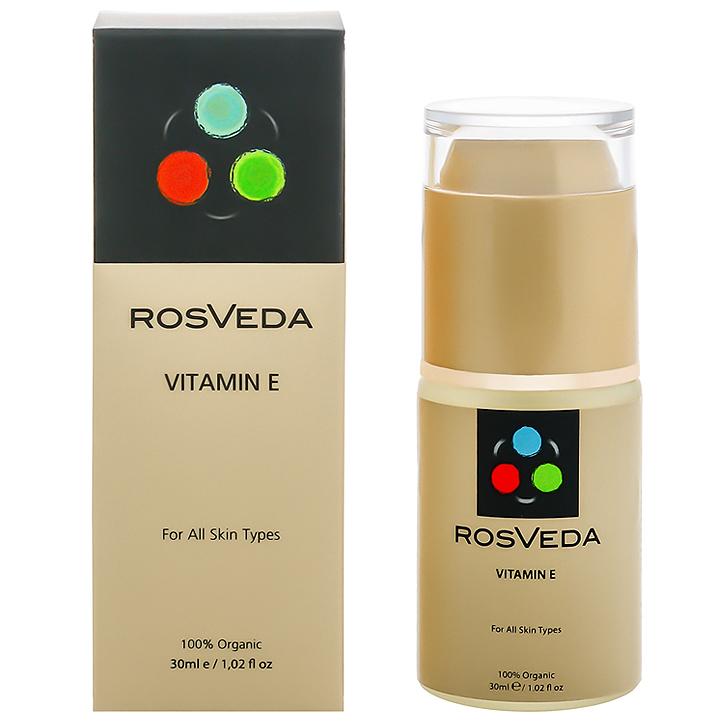 RosVeda Vitamin E 100% Φυτική Σύνθεση Ορός Κολλαγόνου & Ελαστίνης για τη Καταπολέμηση των Παραγόντων Γήρανσης του Δέρματος 30ml