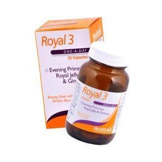 Health Aid Royal 3, Τονωτικός Συνδυασμός Τριών Φυτικών Συστατικών Με Ευεργετική Δράση 30Caps