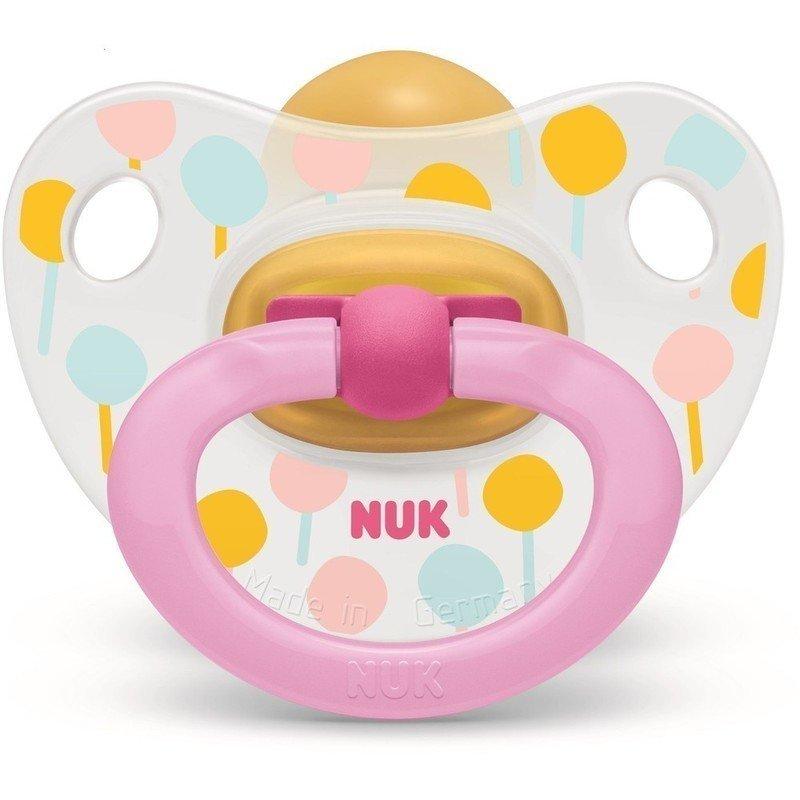 Nuk Classic Happy Kids Πιπίλα από Καουτσούκ με Κρίκο Μεγέθους 3 (18-36 Μηνών) 1τμχ