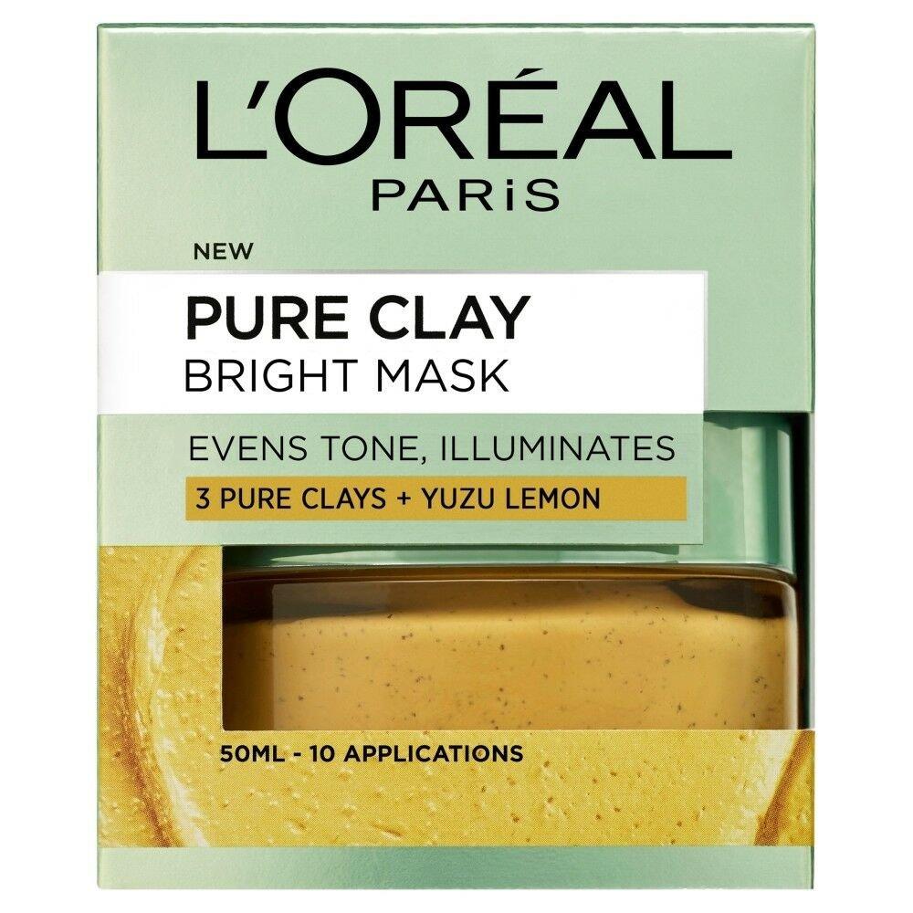 Loreal Paris Pure Clay Bright Mask Μάσκα Αργίλου για Ομοιόμορφο Τόνο & Λάμψη 50ml