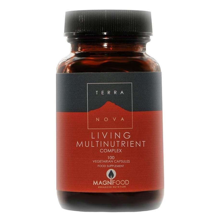 Terranova Living Multinutrient Πλούσια Πολυβιταμίνη με 16 Φρέσκες Ολόκληρες Υπερτροφές 100 caps