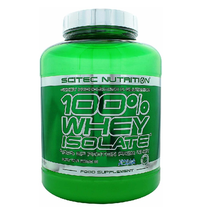 Scitec Nutrition 100% Whey Isolate Φόρμουλα Πρωτεΐνης με 100% Περιεκτικότητα Απομονωμένου Ορού Γάλακτος 2000g – Vanilla