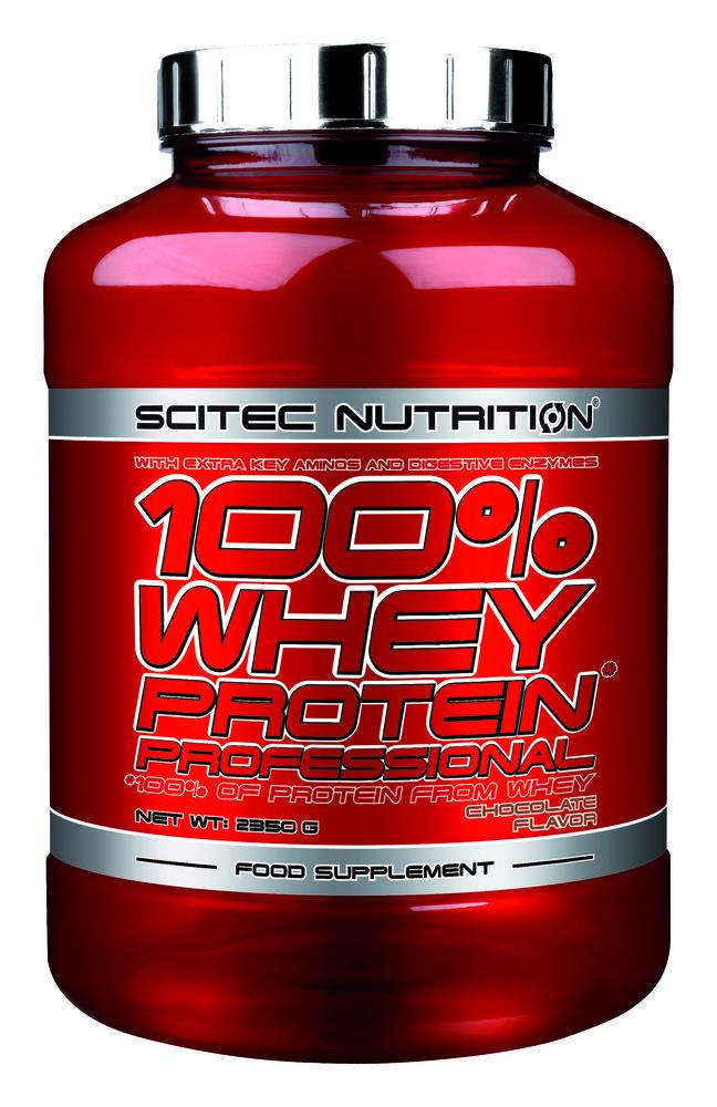 Scitec Nutrition 100% Whey Protein Professional Υπέρ-φιλτραρισμένη Πρωτεΐνη Ορού Γάλακτος με Πρόσθετα Συστατικά 2350g – Strawberry White Chocolate