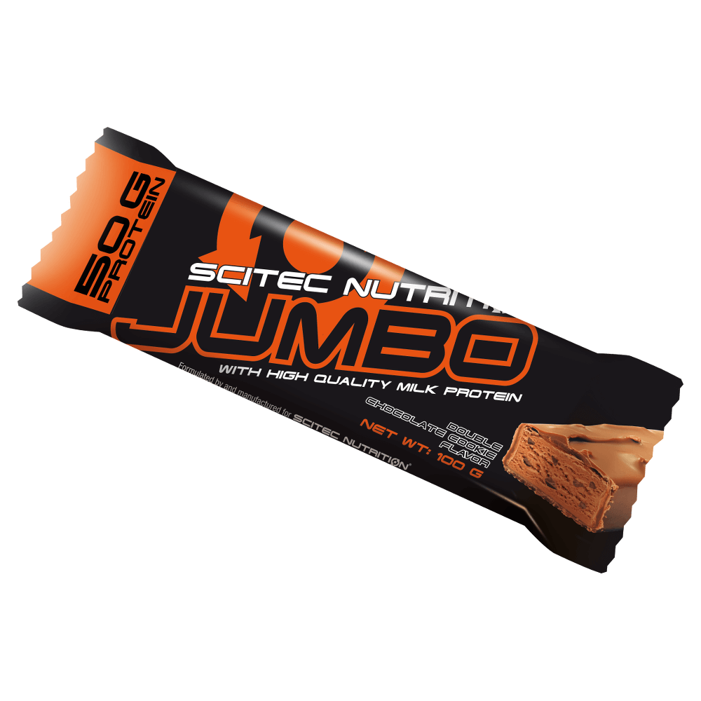 Scitec Nutrition Jumbo Bar Με Υψηλής Ποιότητας Πρωτεΐνες Γάλακτος 100gr – Dark Chocolate Caramel Crunch Flavor