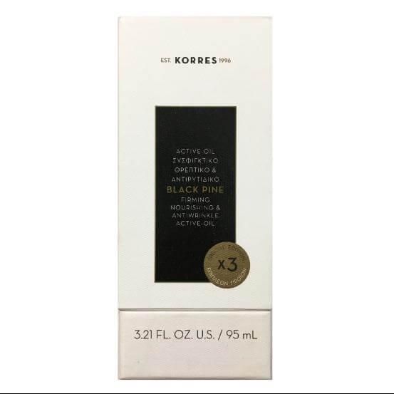 Korres Μαύρη Πεύκη Active Oil Συσφιγκτικό Θρεπτικό & Αντιρυτιδικό Λάδι Special Edition 3x Επιπλέον Προϊόν 95ml