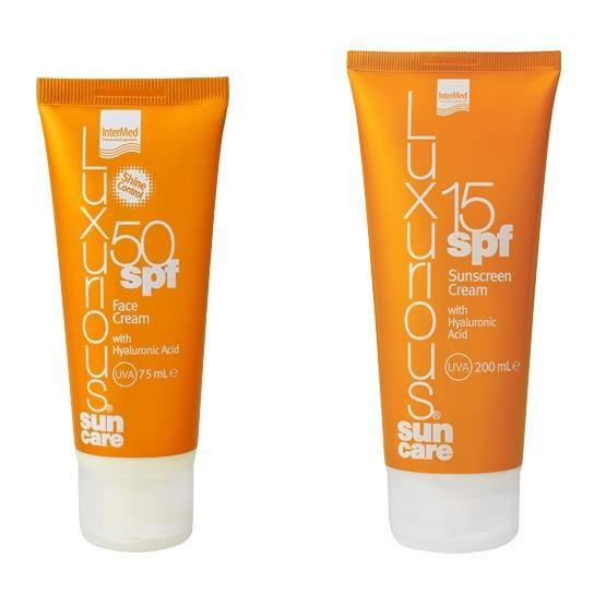 Intermed Luxurious Sun Care Face Cream Spf50 Αντηλιακή Προσώπου 75ml & Body Cream Spf15 Αντηλιακό Σώματος 200ml