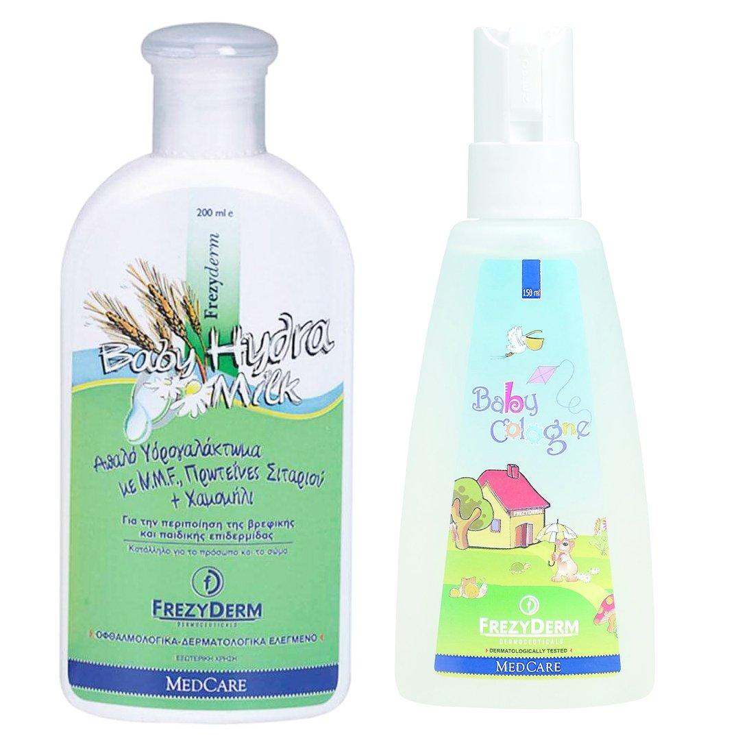 Frezyderm Πλήρη Σειρά Περιποίησης για το Μωρό Baby Cream 175ml & Hydra Milk 200ml & Baby Bath 300ml & Baby Shampoo 300ml