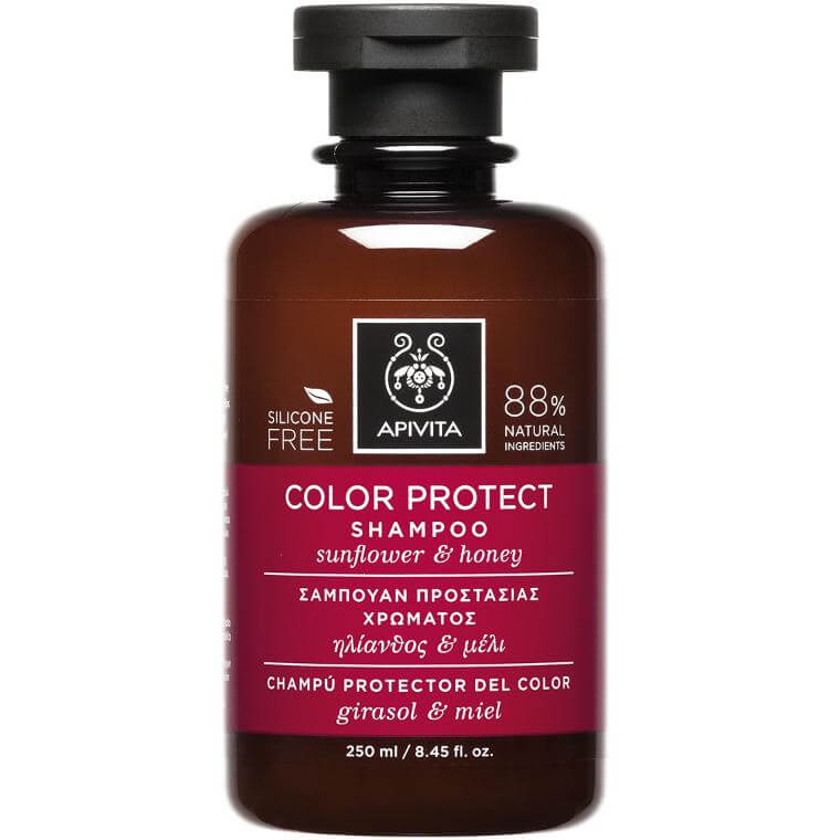 Color Protect Shampoo With Sunflower & Honey 250ml – Apivita,Σαμπουάν Προστασίας Χρώματος με Ηλίανθο & Μέλι