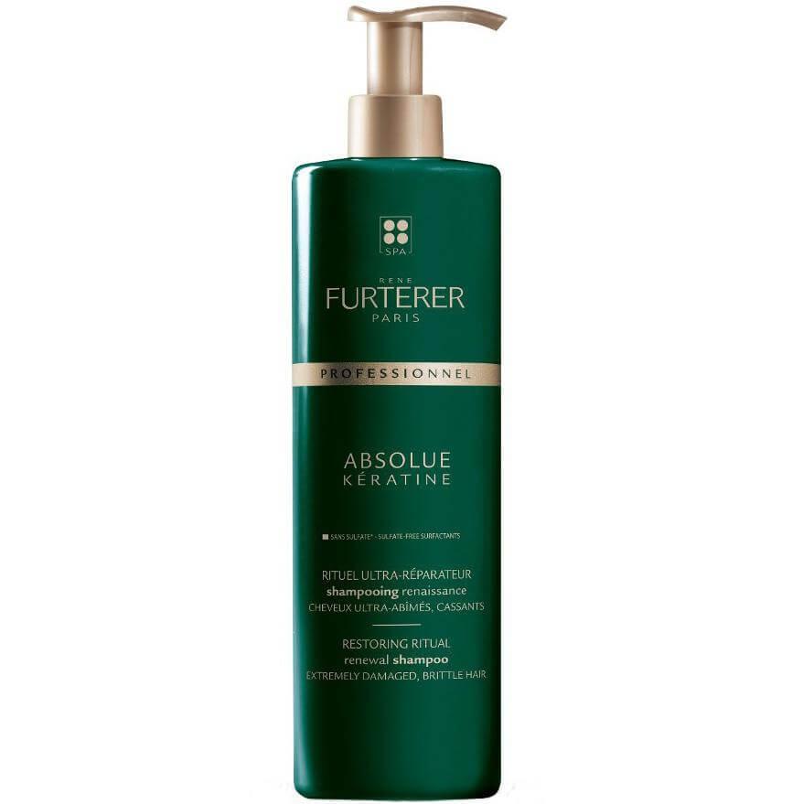 Rene Absolue Keratine Shampoo Renaissance Σαμπουάν Αναγέννησης για Κατεστραμμένα & Εύθραυστα Μαλλιά600ml