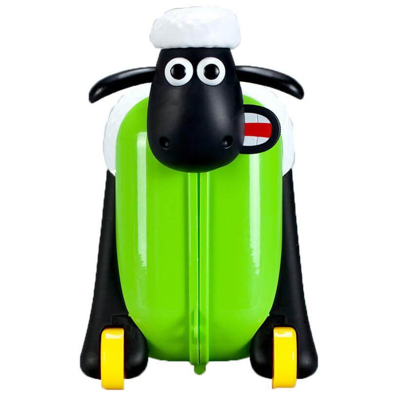 Shaun the Sheep Σον το Πρόβατο Παιδική Βαλίτσα Ταξιδιού, Βάφτισης, Περπατούρα, Παιχνιδόκουτο σε Πράσινο Χρώμα