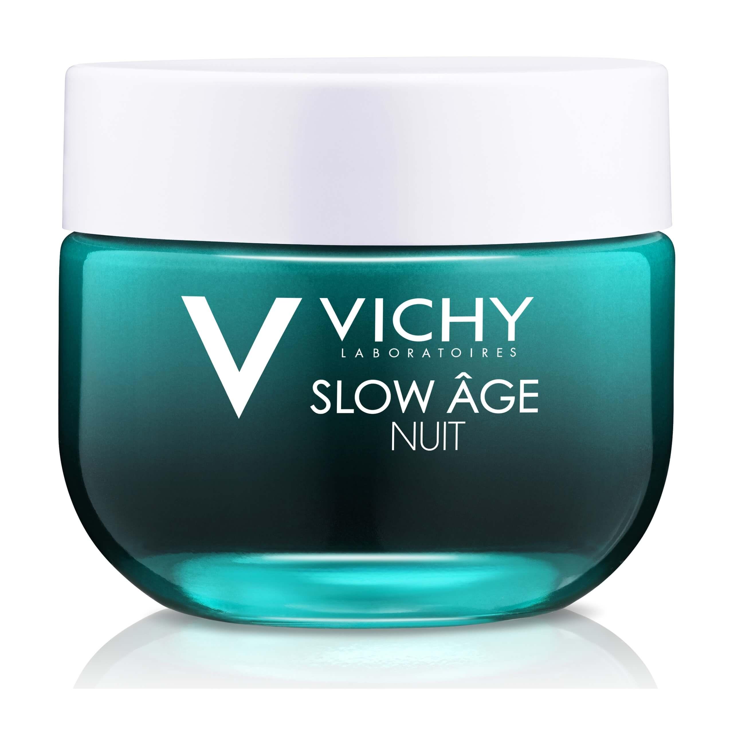 Vichy Slow Age Night-Δροσερή Kρέμα & Μάσκα 2 σε 1 για Όλους τους Τύπους Δέρματος 50ml