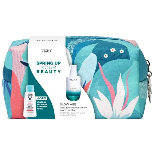 Vichy Promo Spring Up Your Beauty με Slow Age Fluid Spf25 50ml & Mineral Micellar Sensitive 100ml & Νεσεσέρ