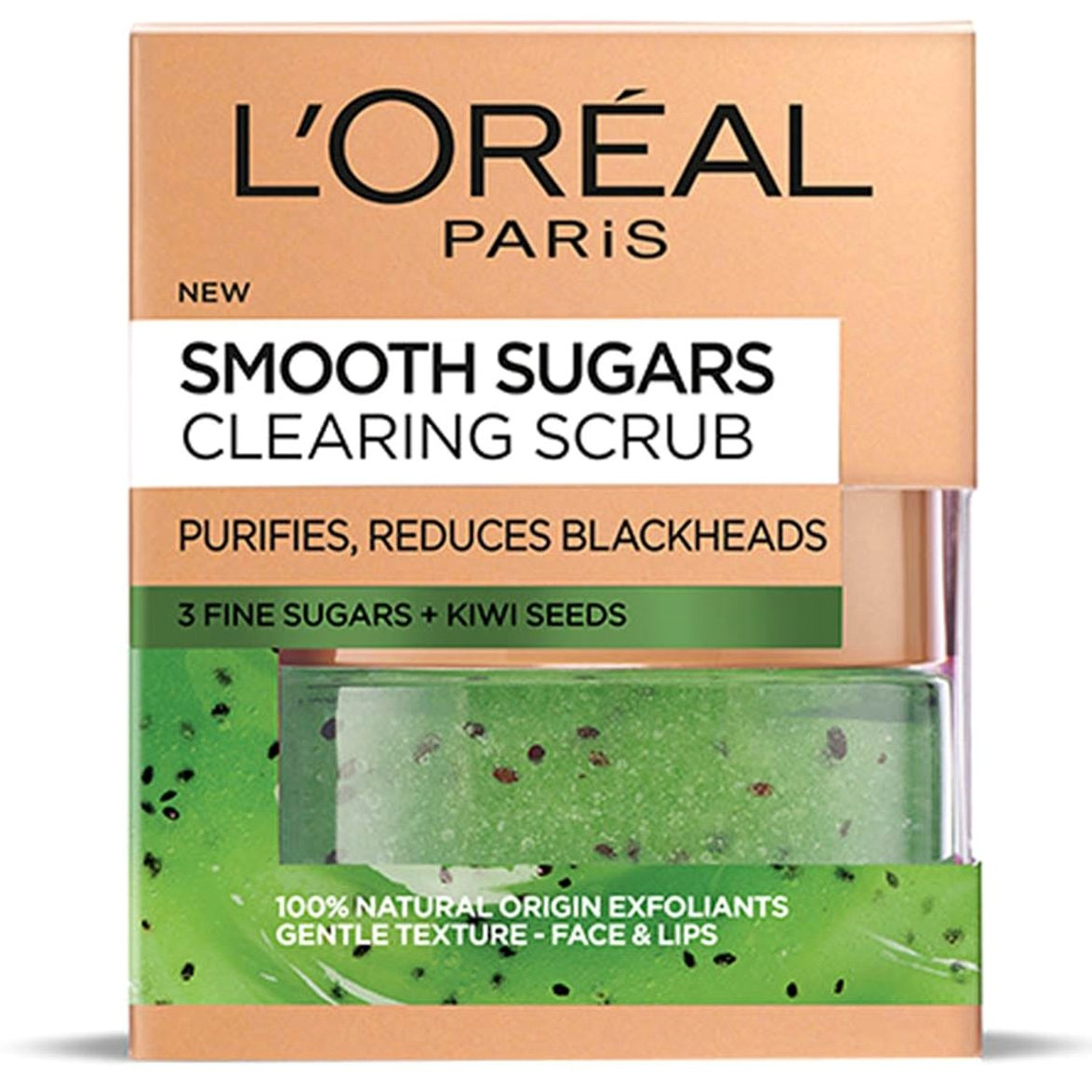 L'oreal Paris Smooth Sugars Clearing Scrub για Φρέσκια, Λαμπερή & Απαλή Επιδερμίδα 50ml
