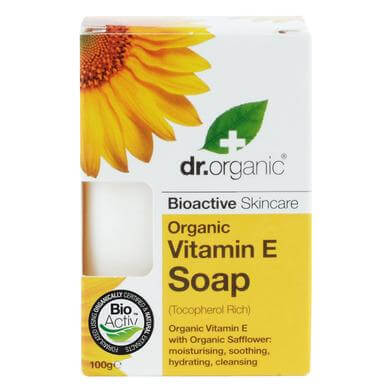Dr Organic Organic Vitamin E Soap Σαπούνι με Βιολογική Βιταμίνη E 100gr