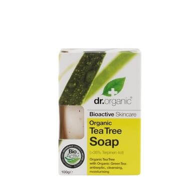 Dr Organic Organic Tea Tree Soap Σαπούνι με Βιολογικό Τεϊόδεντρο 100gr