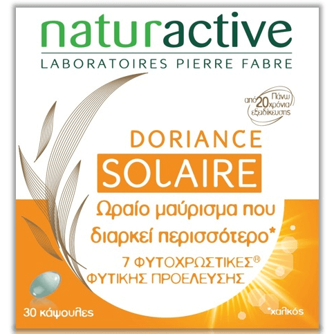 Naturactive Doriance Solaire Συμπλήρωμα Διατροφής για Bαθύτερο Μαύρισμα 30caps