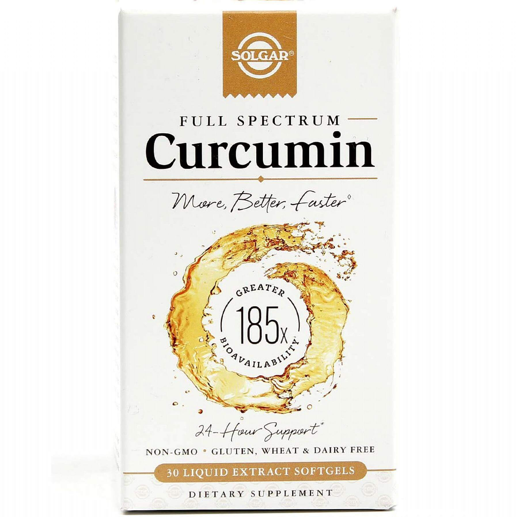 Solgar Full Spectrum Curcumin Συμπλήρωμα Διατροφής με Κουρκουμά Συμβάλει στην Καλή Λειτουργία του Πεπτικού Συστήματος 30soft gel