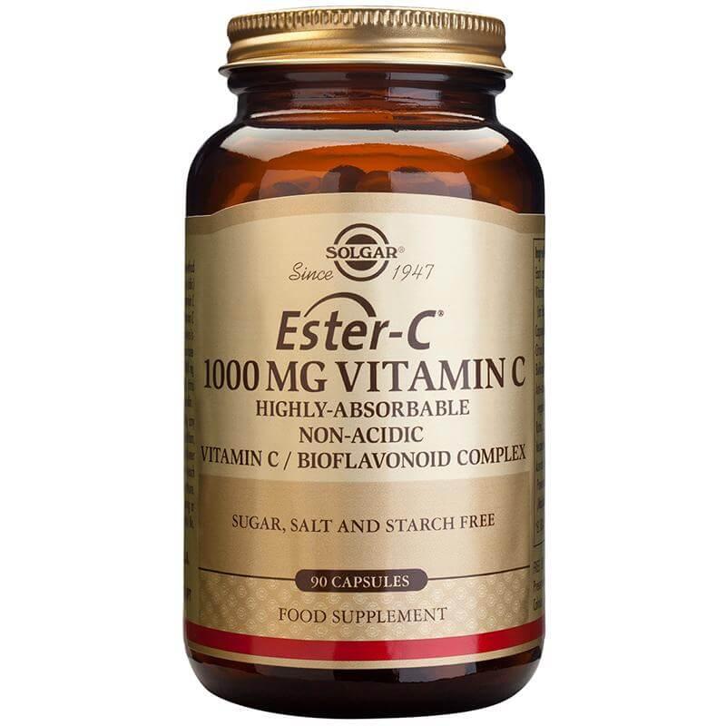 Solgar Ester-C 1000mg Συμπλήρωμα Διατροφής με μη Όξινη Μορφή Βιταμίνης C tablets – 60 tabs