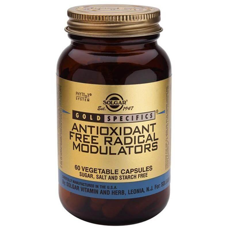 Solgar Antioxidant Free Radical Modulators Συμπλήρωμα Διατροφής με Ισχυρή Προστασία Ενάντια Στις Εκφυλιστικές Παθήσεις 60vegcaps