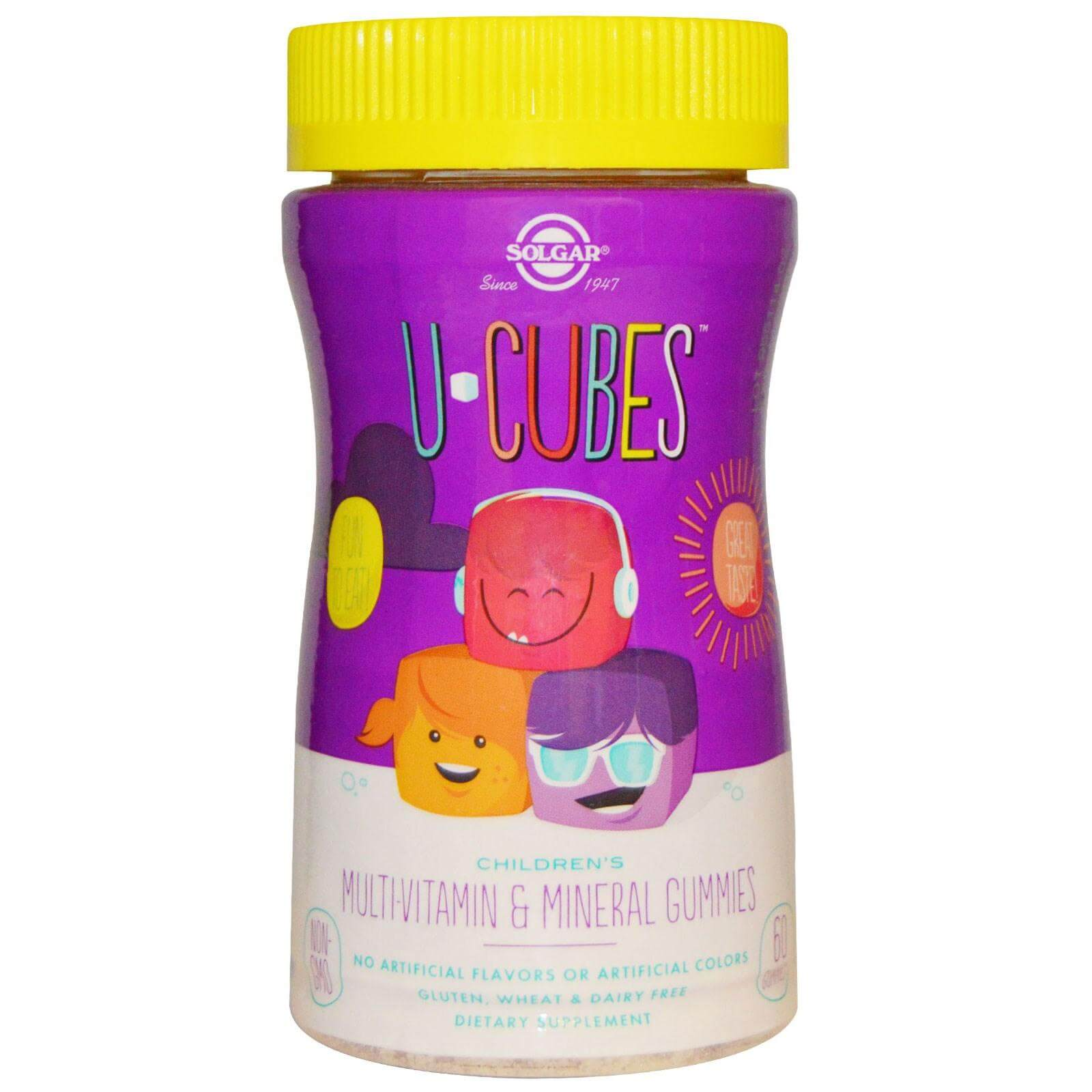 Solgar U Cubes Childrens MultiVitamin & Mineral Gummies Πολυβιταμινούχα Ζελεδάκια για Παιδιά για Ενέργεια & Τόνωση 60 gummies