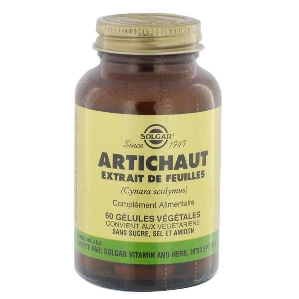 Solgar Artichoke Leaf Extract Συμπλήρωμα Διατροφής για την Ομαλή Λειτουργία του Ήπατος 60veg.caps