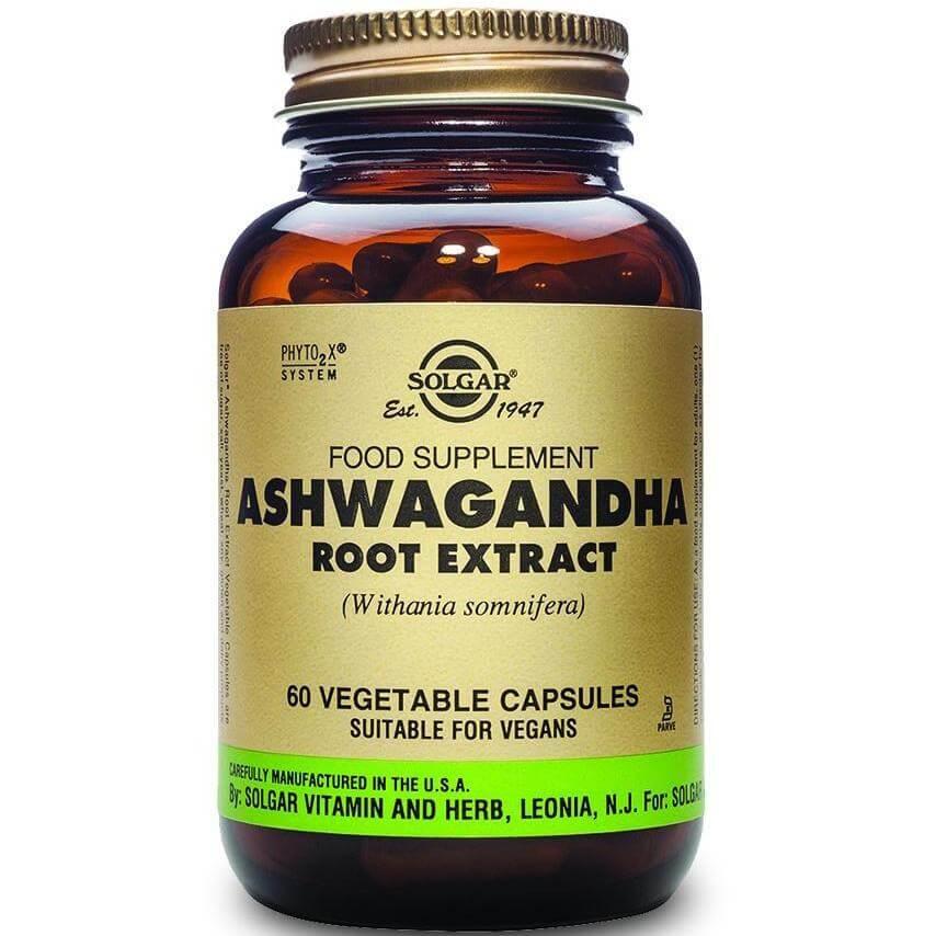 Solgar Sfp Ashwagandha Root Extract Συμπλήρωμα Διατροφής με Αντιμικροβιακή & Αντιφλεγμονώδη Δράση 60veg.caps