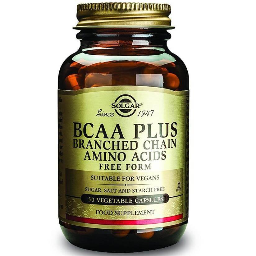 Solgar BCAA Plus Συμπλήρωμα Διατροφής για Αποκατάσταση του Μυικού Ιστού Ιδανικό Για Αθλητές 50veg.caps