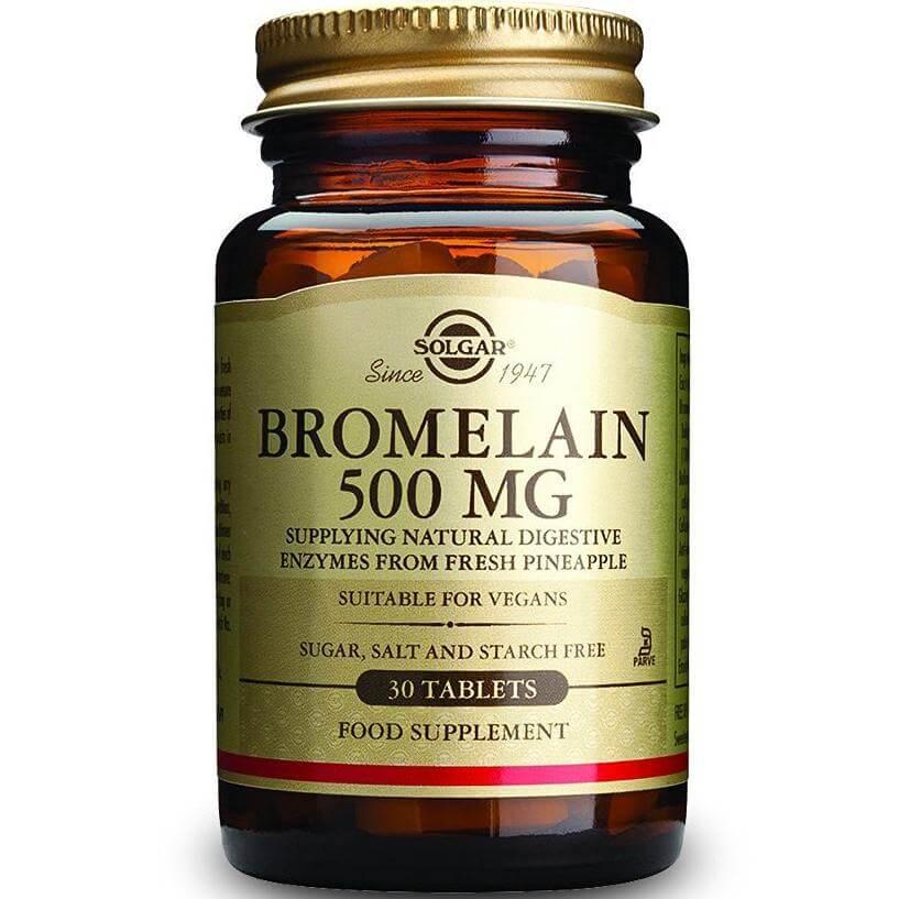 Solgar Bromelain 500mg Συμπλήρωμα Διατροφής με Άριστες Αντιφλεγμονώδεις Ιδιότητες 30tablets