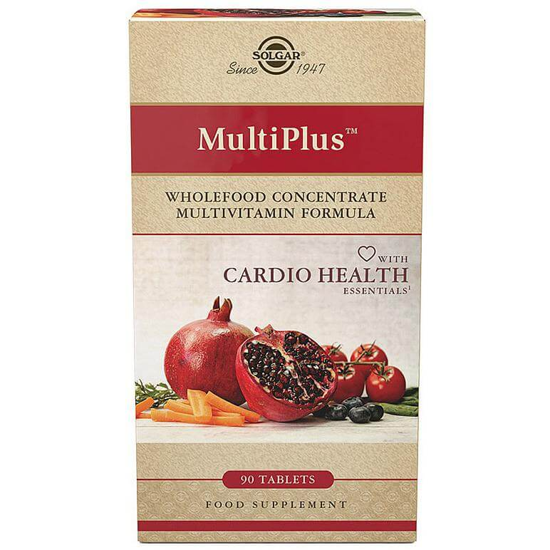 Solgar Multiplus with Cardio Essentials Συμπλήρωμα Διατροφής, Προηγμένη Φόρμουλα που Προσταστατεύει το Καρδιαγγειακό Σύστημα 90s