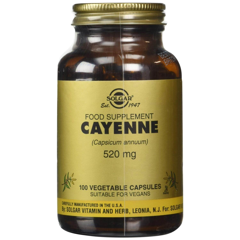Solgar Cayenne 520mg Συμπλήρωμα Διατροφής με Καρδιαγγειακά Οφέλη, Αλλά & Ισχυρό Βοήθημα για την Πέψη 100 veg.caps