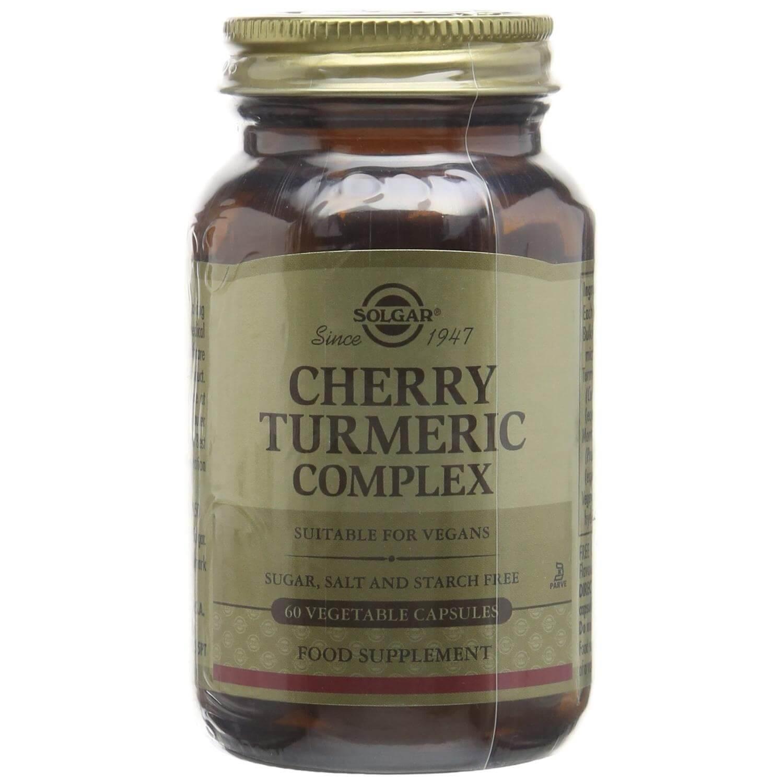 Solgar Cherry Turmeric Complex Συμπλήρωμα Διατροφής Χρήσιμο για την Αποτοξίνωση του Οργανισμού 60veg caps