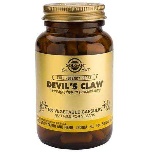 Solgar Devil's Claw Συμπλήρωμα Διατροφής Χρήσιμο σε Περιπτώσεις Γενικών Ρευματισμών 100veg.caps