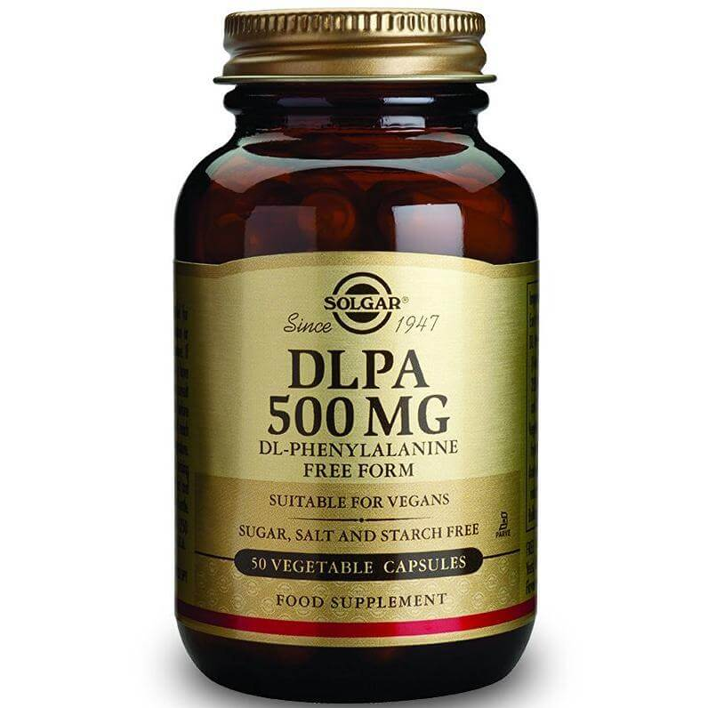 Solgar DLPA 500mg Συμπλήρωμα Διατροφής Κατάλληλο για Ασθένειες με Χρόνιους Πόνους,Παρέχει Αντικαταθλιπτικές Ιδιότητες 50veg.caps