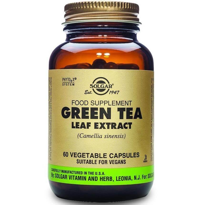 Solgar Sfp Green Tea Leaf Extract Συμπλήρωμα Διατροφής Ιδιαίτερα Χρήσιμο για τη Καύση του Αποθηκευμένου Λίπους 60veg.caps