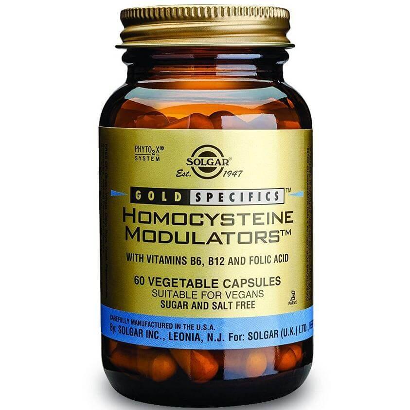 Solgar Homocysteine Modulators Συμπλήρωμα Διατροφής Ισχυρός Συνδυασμός Διατροφικών Στοιχείων 60veg.caps