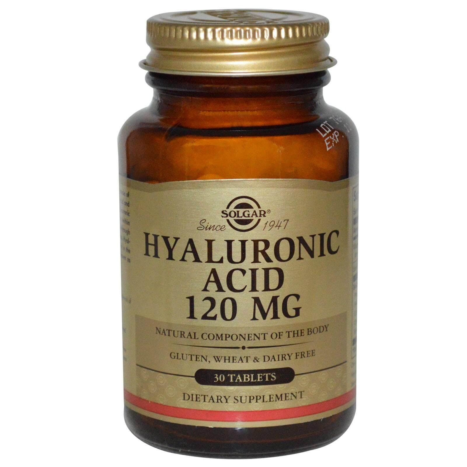 Solgar Hyaluronic Acid Complex 120mg Συμπλήρωμα Διατροφής Υαλουρονικού Οξέως για την Ανάπλαση & Ελαστικότητα της Επιδερμίδας 30s